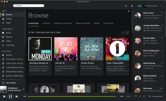 Spotify desktop-browse