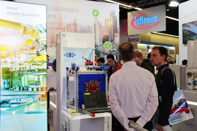 Infineon booth at the embedded world 2016