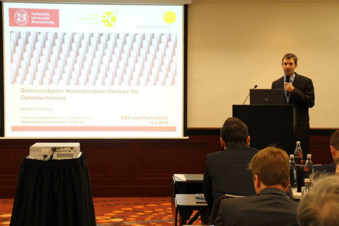 Dr. Sönke Fündling, Technical University of Braunschweig, gave an overview on the status quo of LED technology
