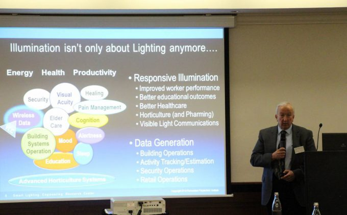 Prof. Karlicek talking about Lighting and the Internet of Things