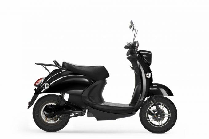 unu motors scooter side