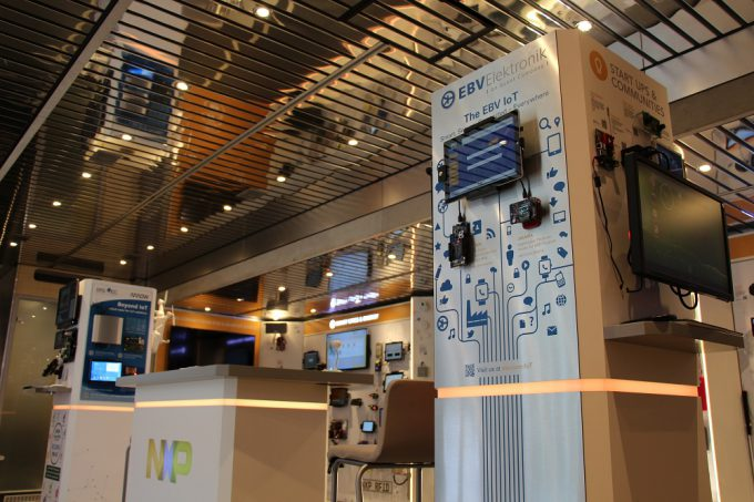 More than 150 demos dedicated to the Internet of Things can be explore inside of the NXP truck